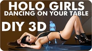 Hologram TV | Girls Projector | Sexy 3D Pyramid Holo Girls Dancing On Your Table