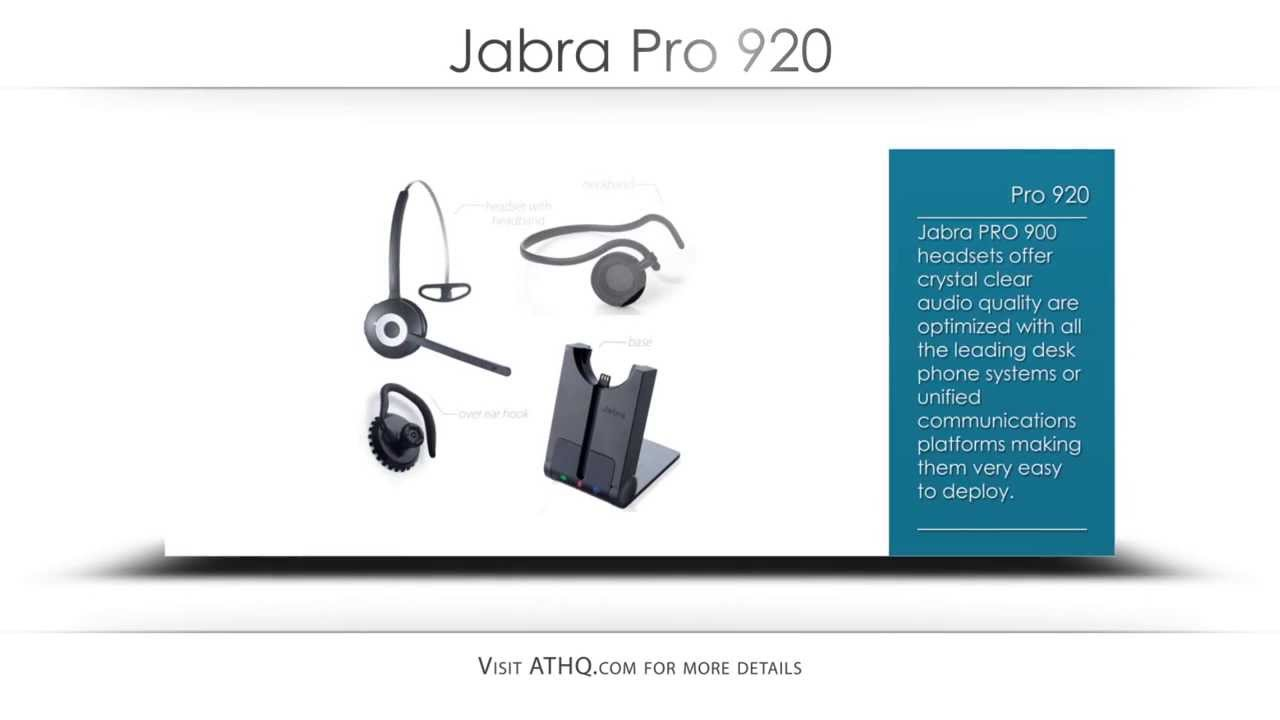 Jabra Pro 920 Product Overview Youtube