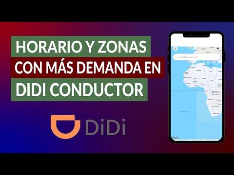 ¿Qué es y Cuál es el Horario, Horas y Zonas con más Alta Demanda en DIDI Conductor?