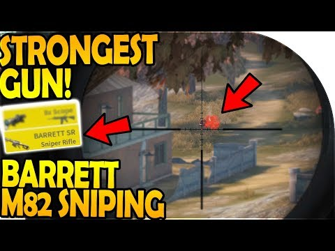BARRETT SNIPING (*STRONGEST GUN* in Game) - Rules of Survival Battle Royale Gameplay YouTuber Duos