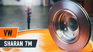 Kako zamenjati sprednji zavorni diski, sprednji zavorne ploščicenaVW SHARAN 7M [Vodič]