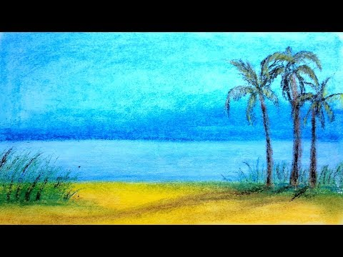 Landscape drawing for beginners with soft pastels | landscape painting