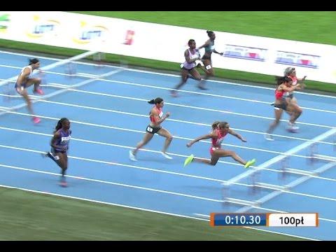 Lolo Jones wins 100m hurdles - Warszawa 09 13 2015