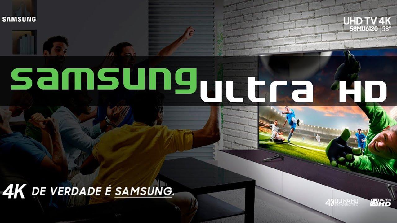 "c76be96a8 Smart TV 4K LED 58"" Samsung Ultra HD 58MU6120 - Tizen Conversor Digital  Wi-Fi 3 HDMI 2 USB"