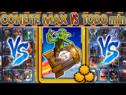 Cohete Al MAXIMO ⭐⭐⭐ VS TODO Min   Clash Royale