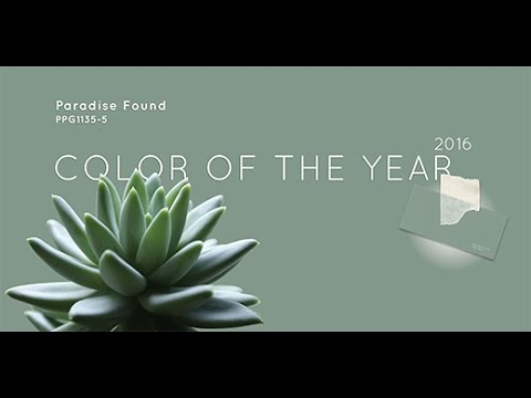 The Ppg Voice Of Color 2016 Color Of The Year Paradise Found Youtube