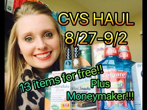 CVS HAUL 8/27/17-9/2/17!!!! 13 ITEMS FREE...