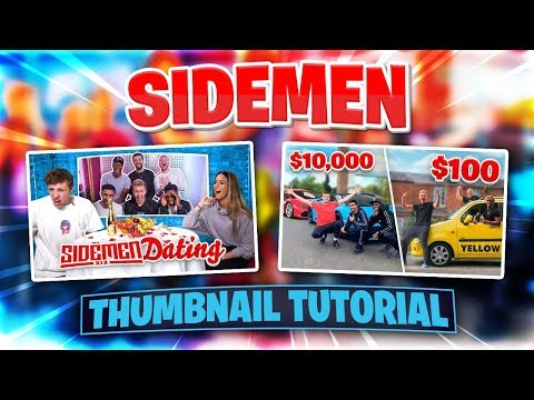 How To Make Thumbnails Like The SIDEMEN! (Photoshop Tutorial) thumbnail