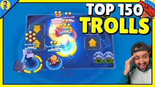 TOP 150 FUNNY TROLL MOMENTS en Brawl Stars