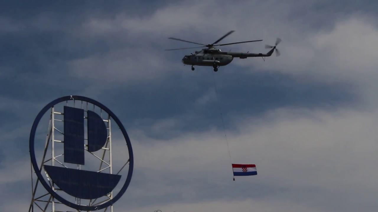 Hd Helikopter I Hrvatska Zastava Zagreb Doček 16072018