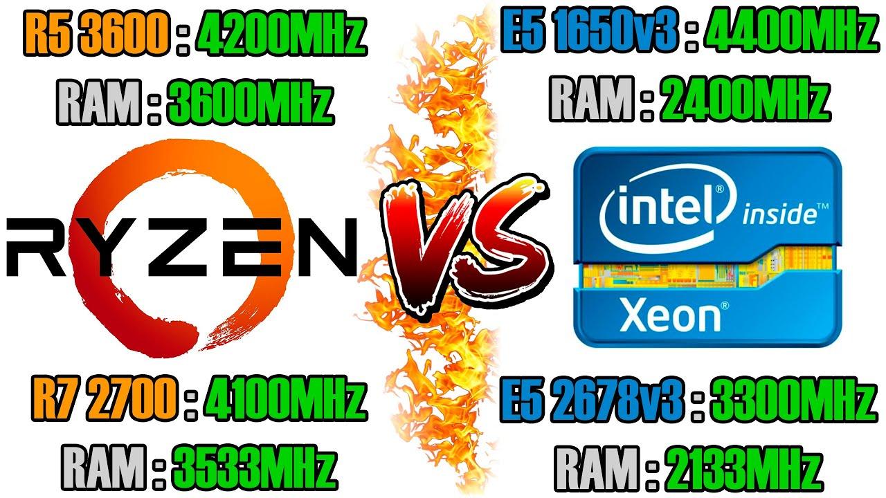 Какой процессор выгоднее купить - Ryzen или Xeon? Сравнение: R5 3600, R7 2700, E5 1650v3, E5 2678v3