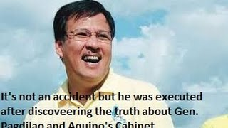 Jesse Robredo's death is not accident! He was executed!
