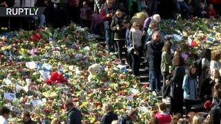 В центре Стокгольма прошла акция памяти жертв теракта
