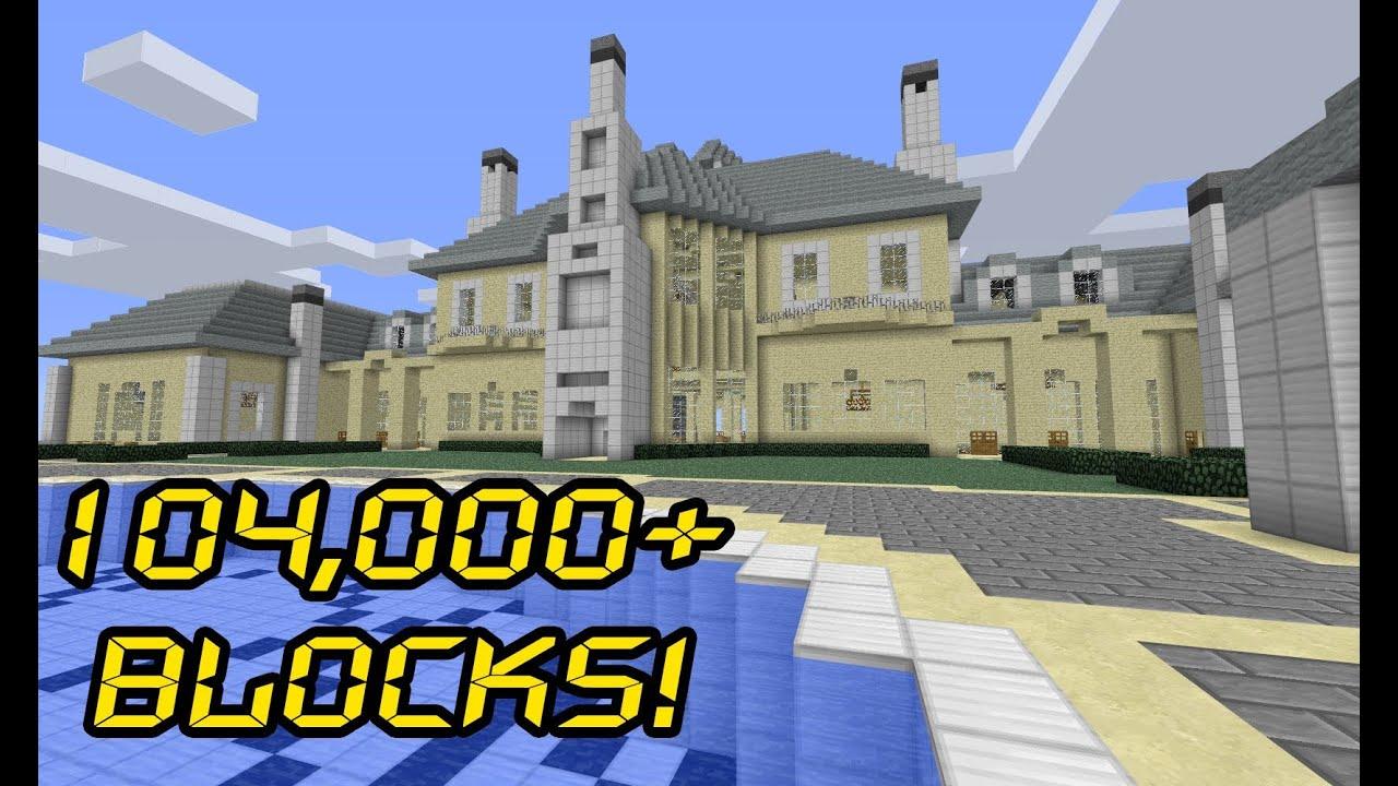 Massive Minecraft Mansion - 7 Montagel Way - YouTube