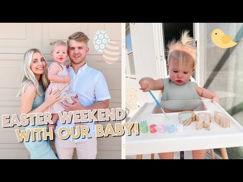 our easter weekend! cute baby egg hunt + fun activities!