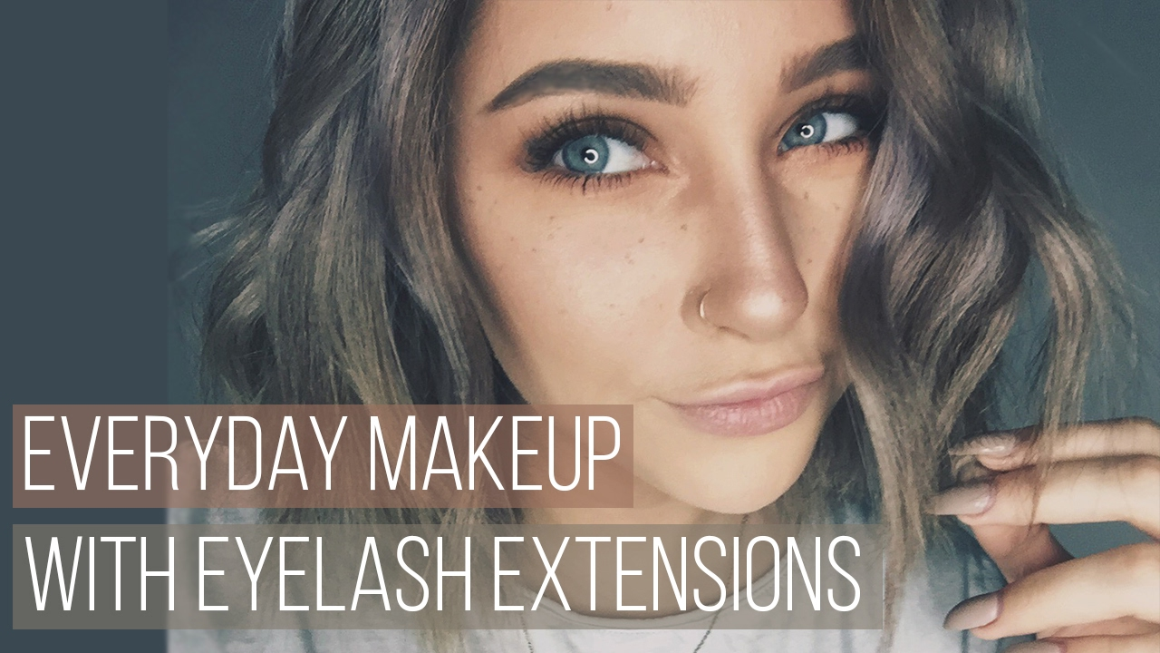 fcdefa32784 Everyday Makeup with Eyelash Extensions Tutorial - YouTube