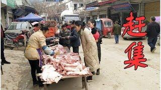 姐姐回來雯雪陪她去趕集,集市已經很有年味,豬肉價格還上漲不少 【90後寶媽雯雪】 thumbnail