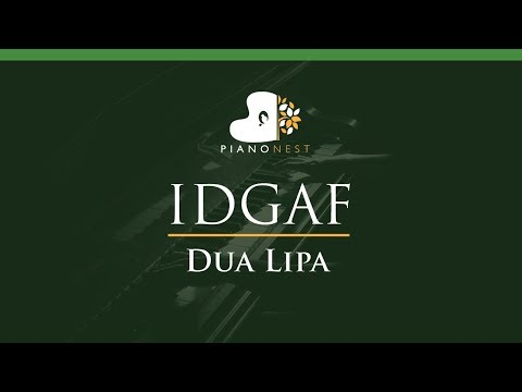 Dua Lipa - IDGAF - LOWER Key (Piano Karaoke / Sing Along)