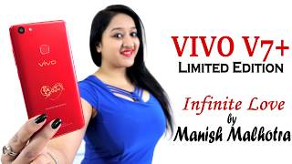 Vivo V7+ Manish Malhotra Limited Edition (Infinite Red) Unboxing & Overview- In Hindi