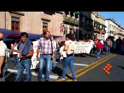 Protesta y bloquea calles la CNTE en el Centro de Morelia