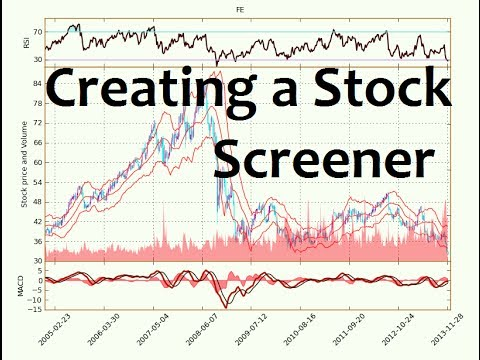 Python Programming Tutorial - How to Make a Stock Screener by sentdex