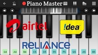 Airtel, Idea, Reliance Theme Song On Piano Tutorial | Mobile Piano |