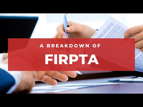 A Breakdown Of FIRPTA (Foreign Investment In Real Property Tax Act)