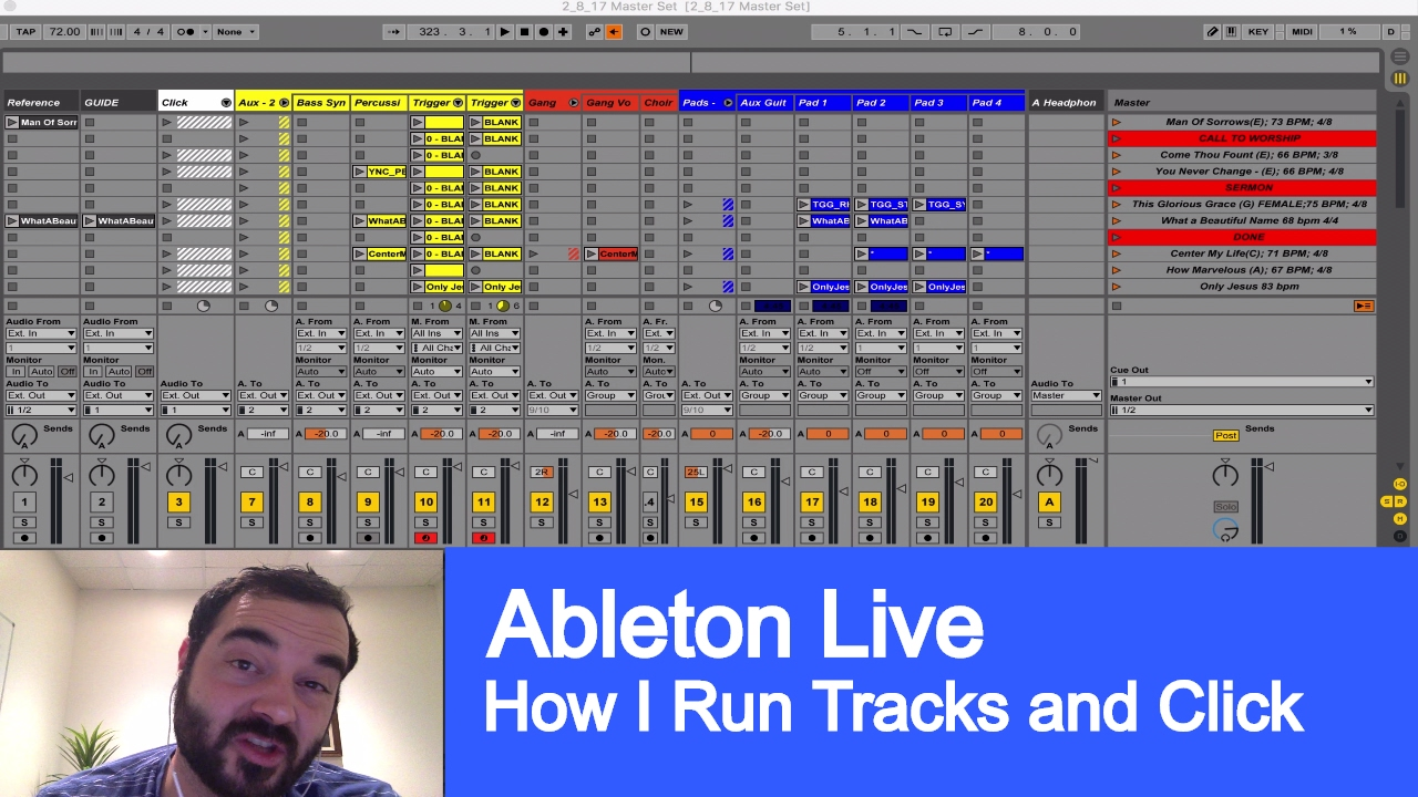Running Tracks and Click with Ableton Live - Austin Stone Worship