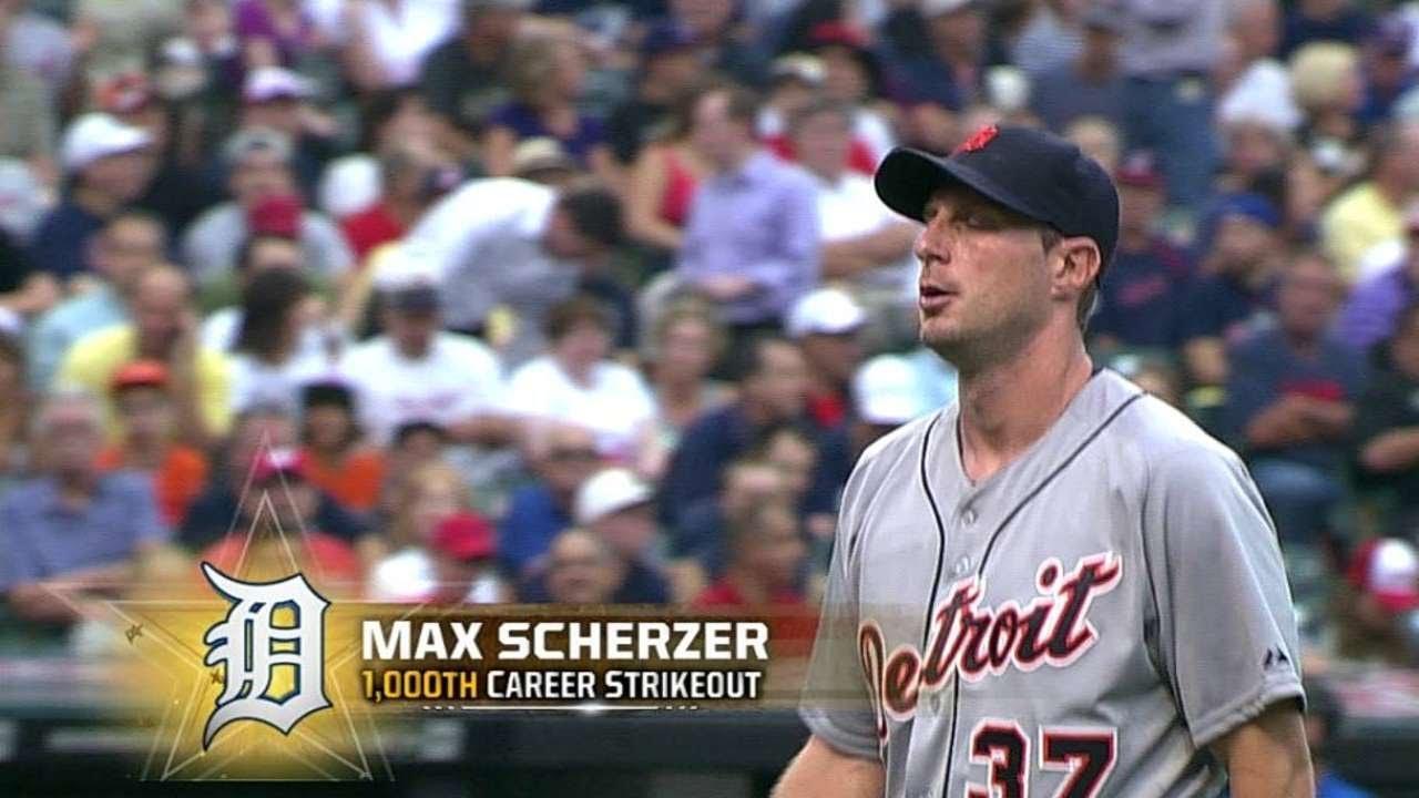 Nationals' Max Scherzer notches 2000 career strikeouts