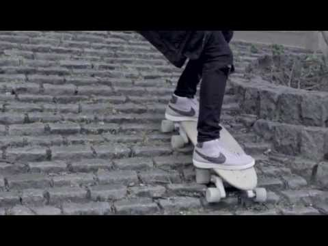 An 8-Wheeled Skateboard That Can Glide Down Stairs