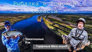Торфяные мега окунЯ Килошные Язи на ультралайт Рыбалка в Томской Области 4K