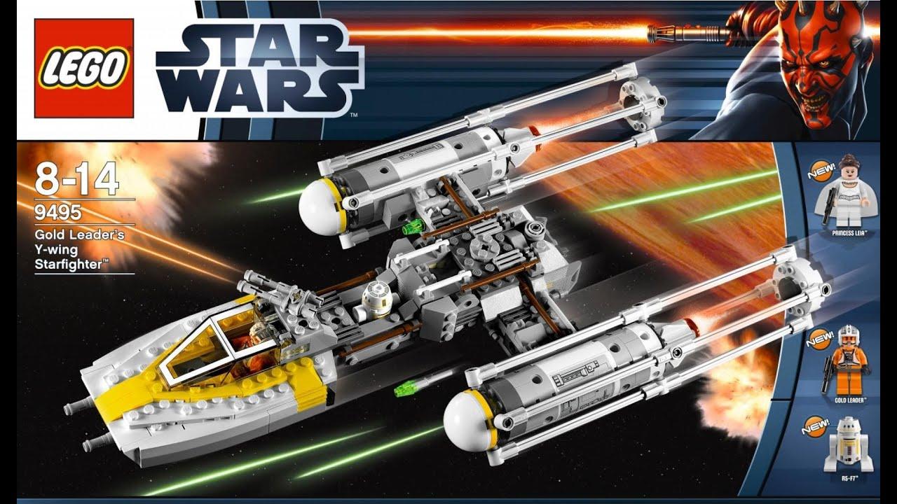 lego star wars 9495 gold leader 39 s y wing starfighter youtube. Black Bedroom Furniture Sets. Home Design Ideas