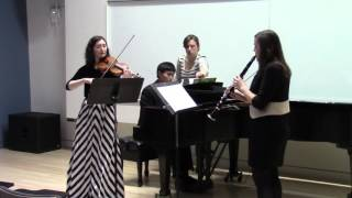Khachaturian Trio for clarinet, violin, and piano