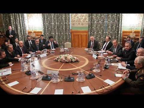Russian, Libyan, and Turkish officials meet in Moscow on Libyan ceasefire