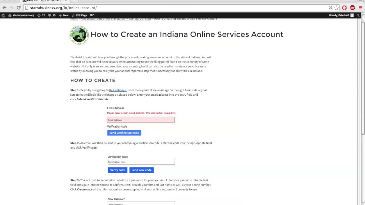 How to Create an Indiana Online Services Account