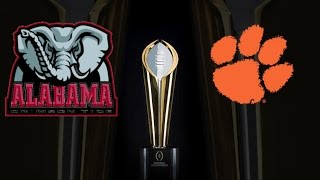 ALABAMA VS CLEMSON PREDICTION: COLLEGE FOOTBALL CHAMPIONSHIP GAME!