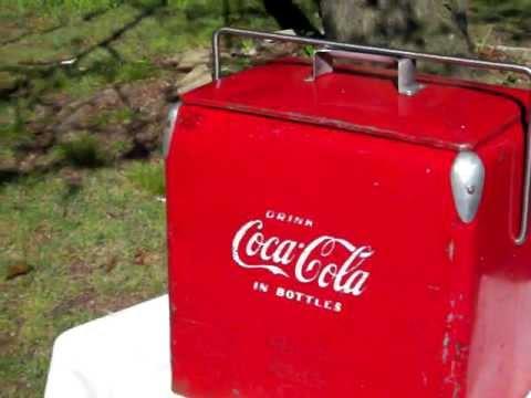 Coca Cola Fridge >> Vintage 1950s Acton Mfg. Coca-Cola Cooler, Great Coke ...