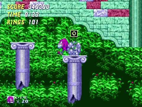 """[TAS] Genesis Knuckles in Sonic the Hedgehog 2 """"ring attack"""" by Evil_3D, WST & Zurg[...] in 45:01.63"""