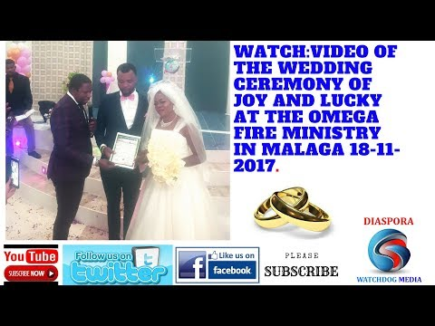 MARRIAGE CEREMONY OF JOY AND LUCKY IN MALAGA SPAIN