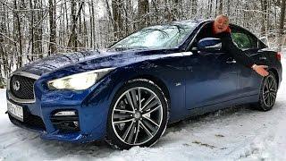 Конкурент Mercedes AMG C 43 и BMW 340i? INFINITI Q50S 400+ сил   тест обзор боком с батей   )
