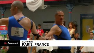 Same-sex duos tango and foxtrot at Paris Gay Games