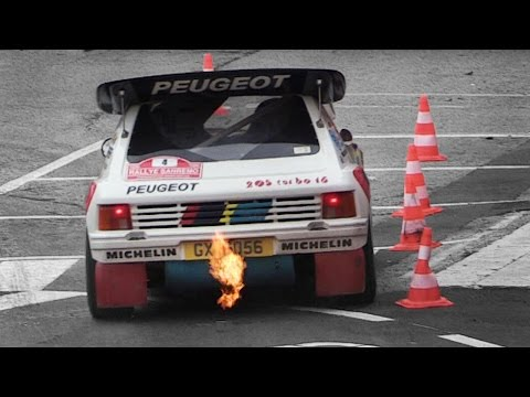 Peugeot 205 T16 Evo 2 Group B Sound - Starts, Accelerations, Flames & More