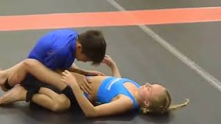 Boy and Girl Wrestling Fun Video