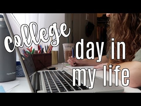COLLEGE DAY IN MY LIFE: a typical day