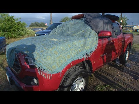 Parts of South Texas pounded with hail