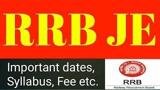 RRB JE - Notification || Basic details - Hindi || Important  - Exam Basics (Syllabus)