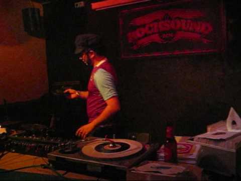 """Manolo Teddy """"Dos Dedos"""" Garcia (The Granadians), in the Barcelona Rude Club. 05th march 2009."""
