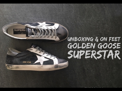 golden-goose-deluxe-brand-superstar-'grey/denim'-|-unboxing-&-on-feet-|-luxury-shoes-|-2017-|-hd