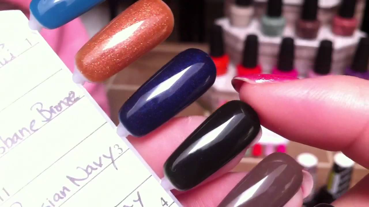 Opi Gelcolor Swatches Review Youtube