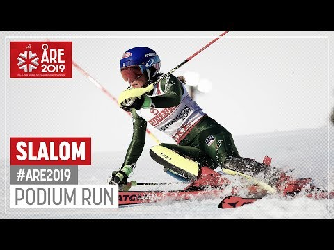 Mikaela Shiffrin | Gold Medal | Ladies' Slalom | Are | FIS World Alpine Ski Championships